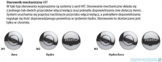 Riho Lusso Wanna prostokątna 180x90 z hydromasażem Hit Hydro 6+4+2/Aero11 BA77H3