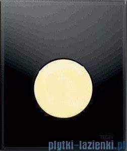 Tece Przycisk spłukujący ze szkła do pisuaru Teceloop szkło czarne, przycisk złoty 9.242.658