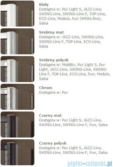 SanSwiss Melia MET1 ścianka lewa wymiary specjalne 90-140/do 200cm czarne MET1AGSM21055