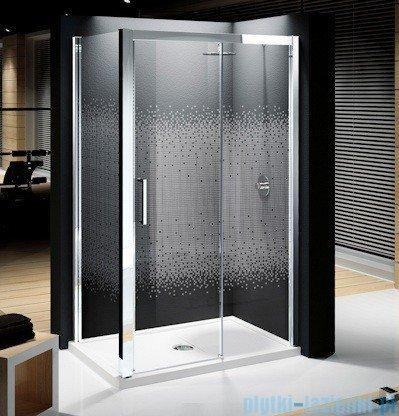 Novellini Elysium Kuadra 2P Drzwi przesuwne 126cm Prawe szkło przejrzyste profil chrom KUAD2P126D-1K