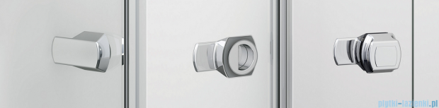 Sanswiss Melia ME13 Drzwi ze ścianką w linii z uchwytami i profilem lewe do 160cm krople ME13AGSM21044