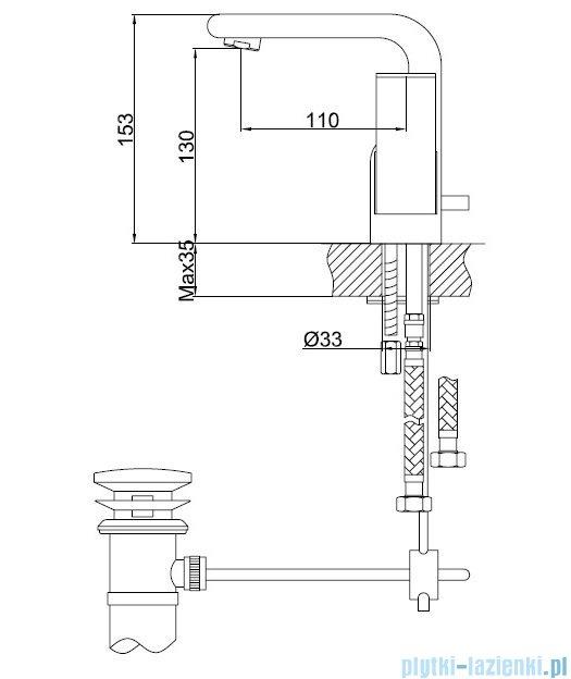 Kohlman Saxo bateria umywalkowa QB100S