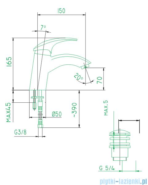 KFA AMETYST bateria umywalkowa CHROM   402-815-00