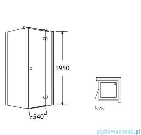 Sea Horse Fresh Line kabina natryskowa narożna, kwadratowa, lewa,  drzwi pojedyncze,  90x90 cm, ze ścianką boczną,  BK247TL