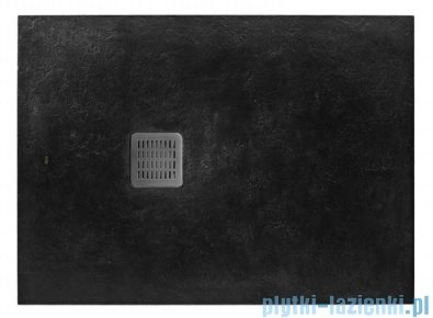 Roca Terran 180x90cm brodzik prostokątny konglomeratowy czarny AP0170838401400