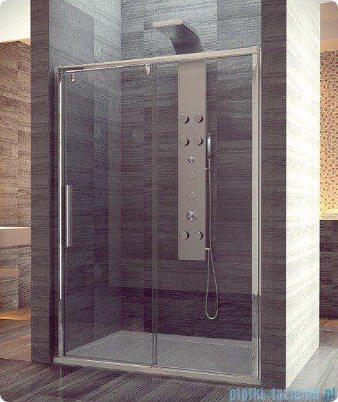 SanSwiss Pur Light S PLS2 Drzwi rozsuwane 180cm profil biały szkło przejrzyste Prawe PLS2D1800407
