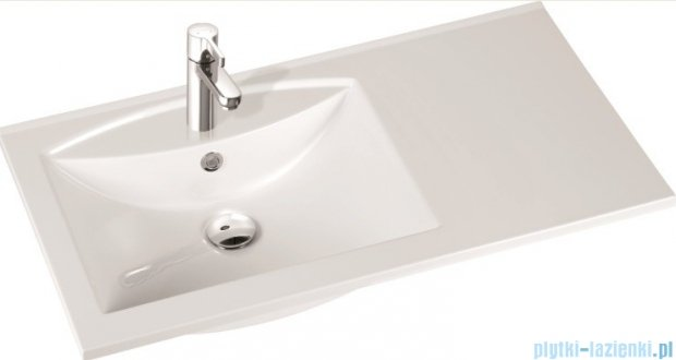 Marmorin Larissa 90L  umywalka nablatowa lewa bez otworu biała 300090720010