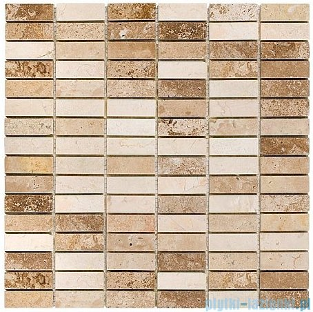 Dunin mozaika kamienna 30x30 travertine block mix 48