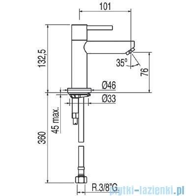Tres Max-Tres Bateria umywalkowa do wody zimnej lub wstępnie zmieszanej 1.62.503