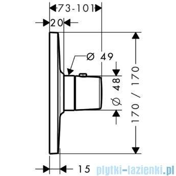 Hansgrohe Axor Bouroullec Bateria termostatyczna podtynkowa High Flow 19702000