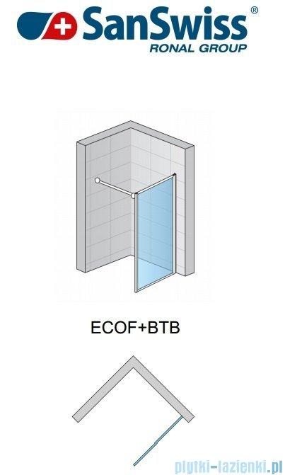 SanSwiss Eco-Line Ścianka boczna ECOF 75cm profil srebrny szkło przezroczyste ECOF07500107