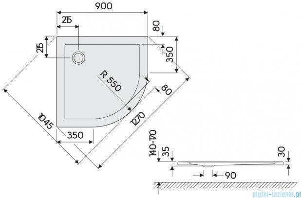 Koło Terra Brodzik 90cm półokrągły XBN1790000