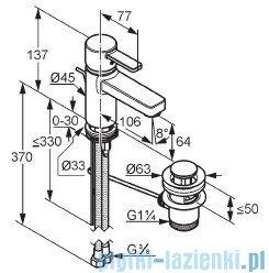 Kludi Zenta Bateria umywalkowa biały/chrom 382509175