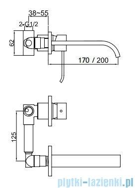 Kohlman Axis podtynkowa bateria umywalkowa QW180N