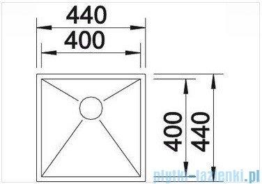 Blanco Zerox 400-U zlewozmywak jedna komora  stal szlachetna polerowana  bez k. aut.  517241