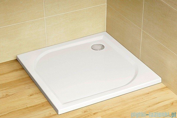 Radaway Carena DWB Drzwi prysznicowe 90 prawe szkło przejrzyste + brodzik Delos C + Syfon 34502-01-01NR