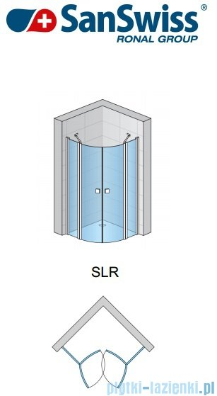 SanSwiss Swing Line SLR Kabina półokrągła 90cm profil srebrny SLR5009000107