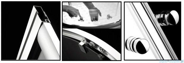 Radaway Premium A Kabina półokrągła 80x80x170 szkło grafitowe 30411-01-05