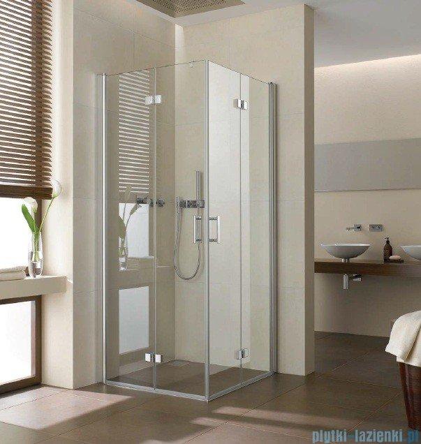 Kermi Diga Wejście narożne,połowa kabiny, lewa, szkło przezroczyste, profile białe 100x200cm DI2CL100202AK