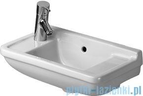 Duravit Starck 3 umywalka mała z przelewem, z półką na baterię 500x260 mm 075150 00 00