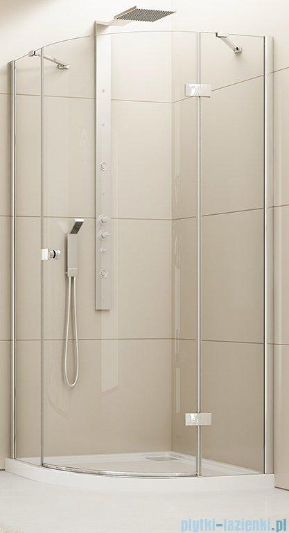 New Trendy Eleganta kabina prysznicowa półokrągła 90x90 prawa przejrzyste EXK-1003