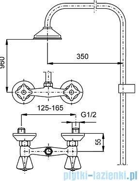 KFA STANDARD Bateria natryskowa ścienna 306-710-00