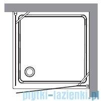 Kerasan Retro Kabina kwadratowa lewa szkło dekoracyjne przejrzyste profile brązowy 90x90 9147N3