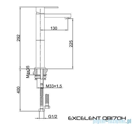 Kohlman Excelent bateria umywalkowa QB170H