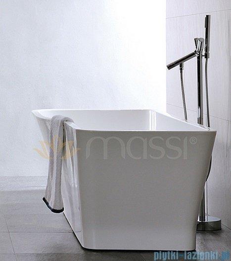 Massi Vago 170 wanna wolnostojąca prostokątna 170x80 cm biała MSWA818170