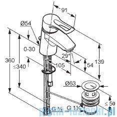 Kludi Mx Bateria umywalkowa do małych umywalek chrom 331280562