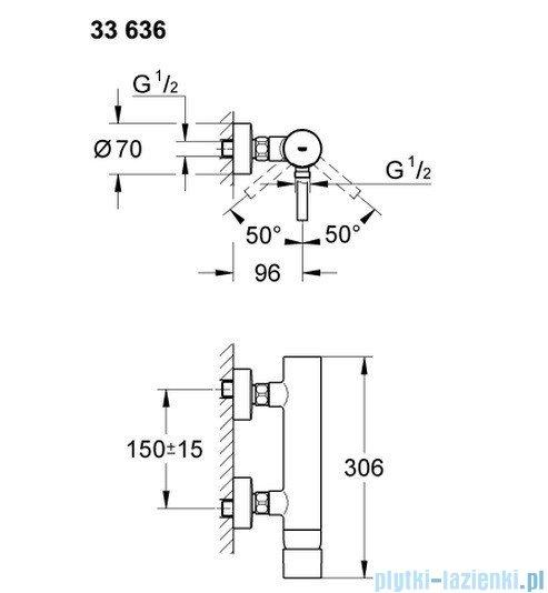 Grohe Essence jednouchwytowa bateria prysznicowa 33636000