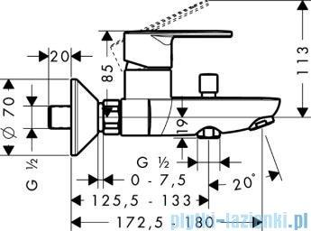 Hansgrohe Talis E² Jednouchwytowa bateria wannowa DN15–montaż natynkowy 31642000