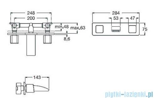 Roca Thesis Bateria umywalkowa podtynkowa A5A4550C00