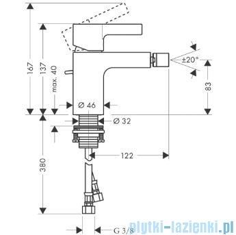 Hansgrohe Metris S Jednouchwytowa bateria bidetowa DN15 31261000