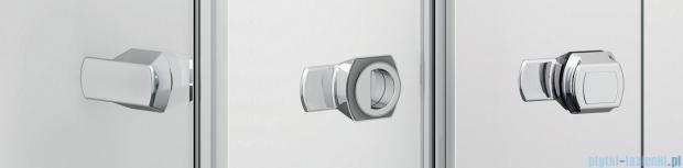 Sanswiss Melia ME13 Drzwi ze ścianką w linii z uchwytami lewe do 120cm przejrzyste ME13WGSM11007