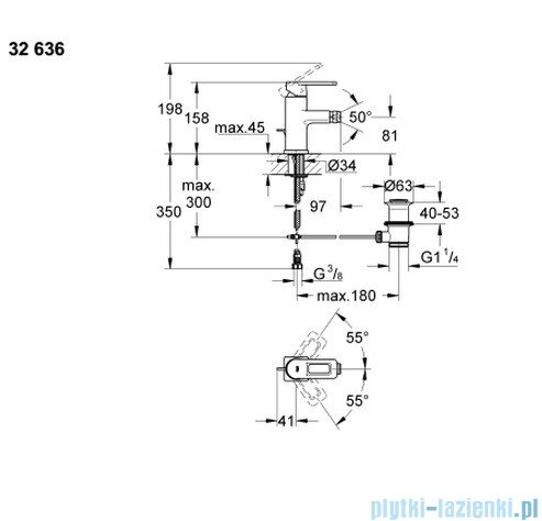 Grohe Quadra jednouchwytowa bateria bidetowa DN 15 32636000