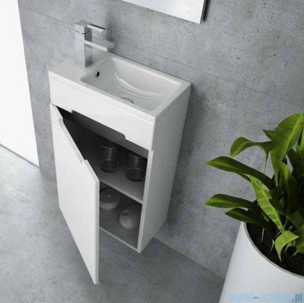 New Trendy Micra szafka wisząca podumywalkowa 40 biały połysk + umywalka ML-MI040