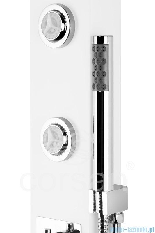 Corsan Tosca panel prysznicowy z mieszaczem Biały A-052BIAŁY
