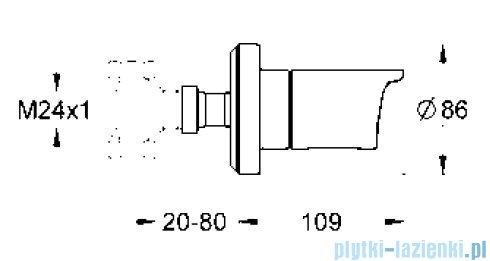 Grohe Grohtherm 2000 NEW element zewnętrzny zaworu podtynkowego 19243001
