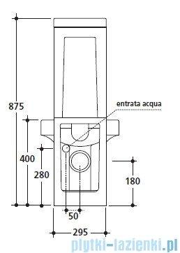 Kerasan Cento spłuczka do kompaktu WC 3581