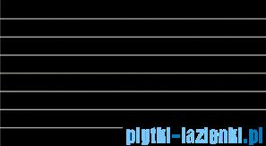 Dekor ścienny Tubądzin Colour Black 32,7x59,3