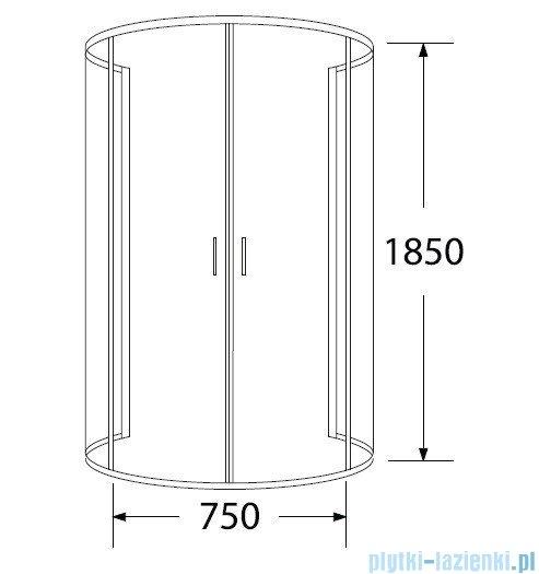 Sea Horse Sigma kabina natryskowa przyścienna półokrągła, 100x80 przejrzyste BK002/1/X