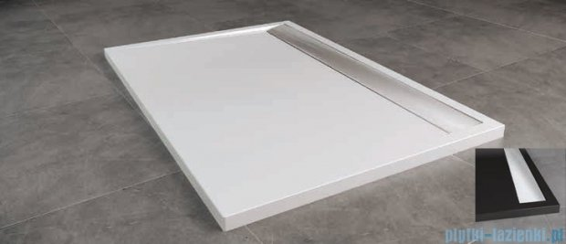 SanSwiss WIA Brodzik konglomeratowy prostokątny 90x160cm czarny/połysk WIA9016050154