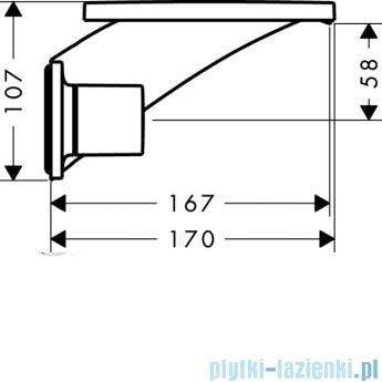 Hansgrohe Axor Massaud 3-otworowa bateria ścienna umywalkowa z krótką wylewką 18112000