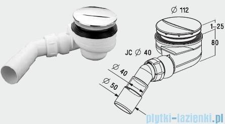 Radaway Turboflow Syfon z odpływem Ǿ 90 biały 023-TB90PB