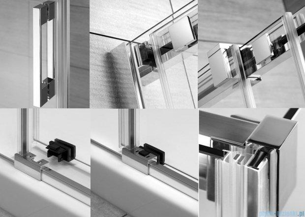 Radaway Espera KDJ Mirror kabina prysznicowa 100x80 prawa szkło przejrzyste 380130-71R/380148-01L
