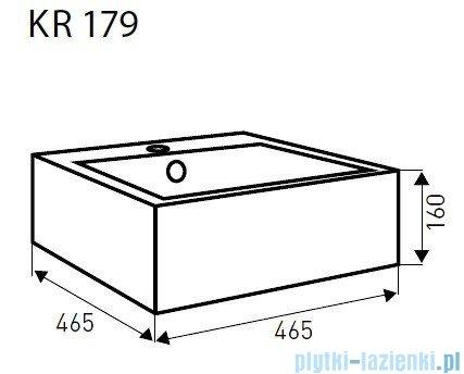 Novoterm Kerra Umywalka nablatowa KR 179 kwadratowa 46,5x46,5 cm