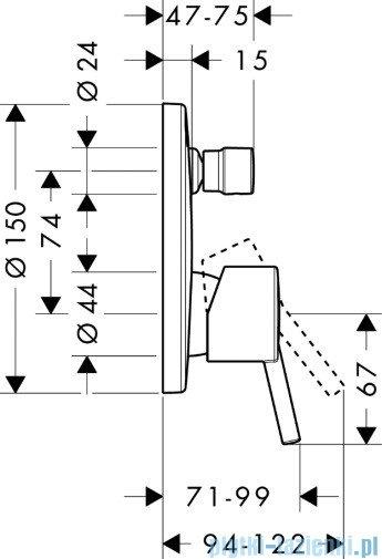 Hansgrohe Talis S Jednouchwytowa bateria wannowa montaż podtynkowy 32475000