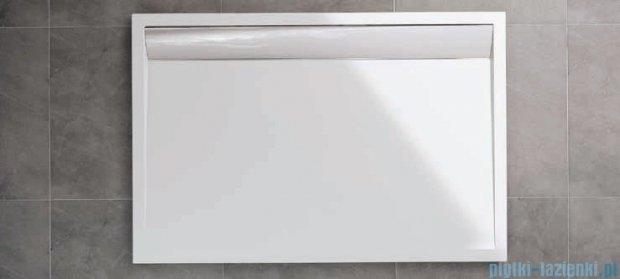 SanSwiss WIA Brodzik konglomeratowy prostokątny 90x100cm biały/połysk WIA901005004