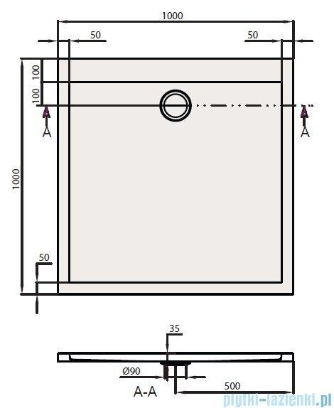 Villeroy&Boch Subway Brodzik Kwadratowy 100x100   UDA1035SUB1V-01